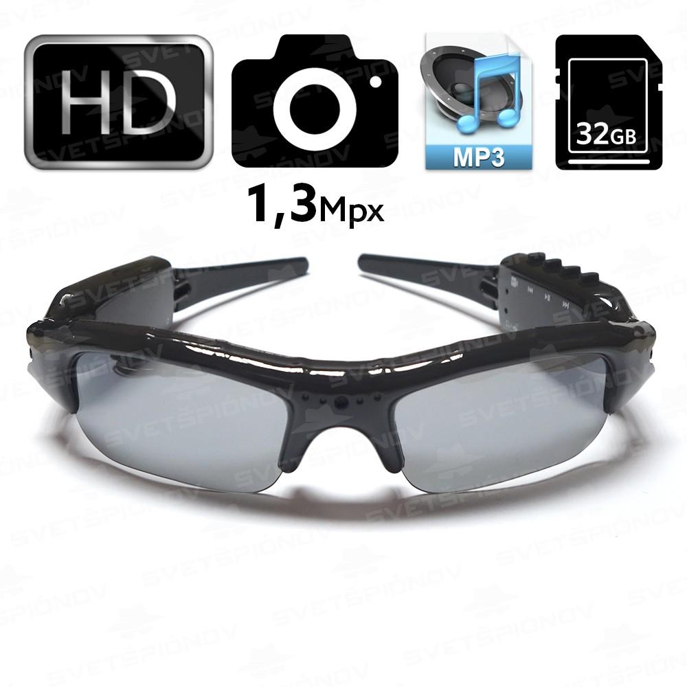Špionážne okuliare s HD kamerou a prehrávačom MP3  d92fdb787bc